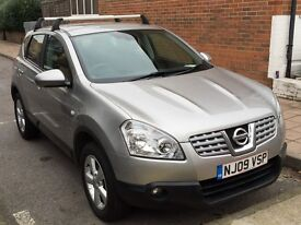 MUST SEE!! PRICE REDUCED!! NISSAN QASHQAI HATCHBACK 1.6 ACENTA 5 DOORS ROOF RAILS - ONLY £4299