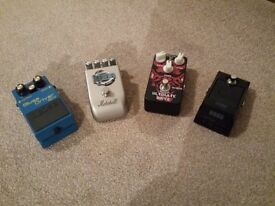 selection of Guitar Pedals