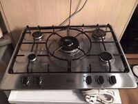 Belling Hob Stainless steel 5 burners - In excellent condition