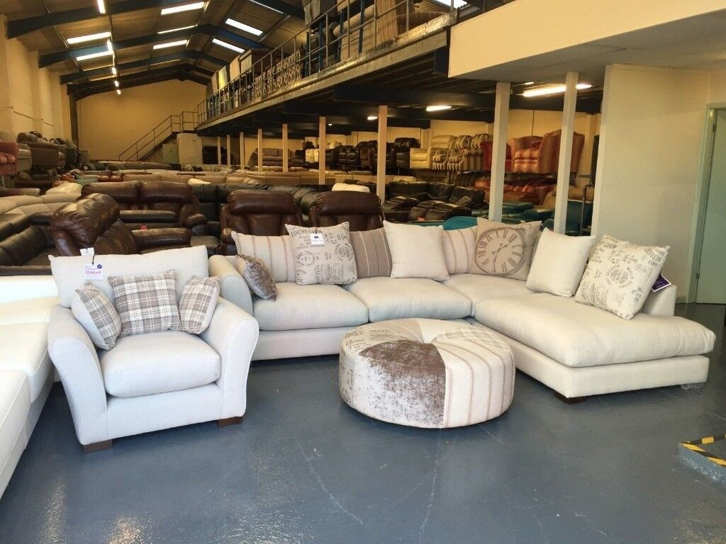 DFS Nest natural combination corner sofa, armchair and round ...