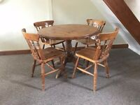 Country Pine Table and 4 Chairs