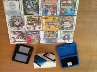 3D DS XL in blue with box and case plus 12games