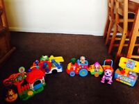 Bundle of Toys £30 Toot Drivers, Toot Toot Animals, Fisher Price Train, Tool Box & Robot Dog