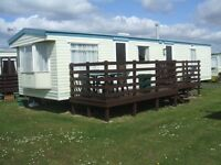 CARAVAN FOR HIRE - SOUTHERNESS - DUMFRIES - LIGHTHOUSE SITE- 2 BED SLEEPS 4 - OCT DATES