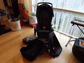 Phil and Teds Classic Pram + inline double kit + cocoon+ full raincover