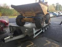 Plant trailer car transporter dale Kane Lowloader 16x6,6 tri axle trailer