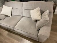 3 seater sofa (grey, fabric, House of Fraser)