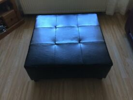 Large Cubed Footstool/ Pouffe/ Seat