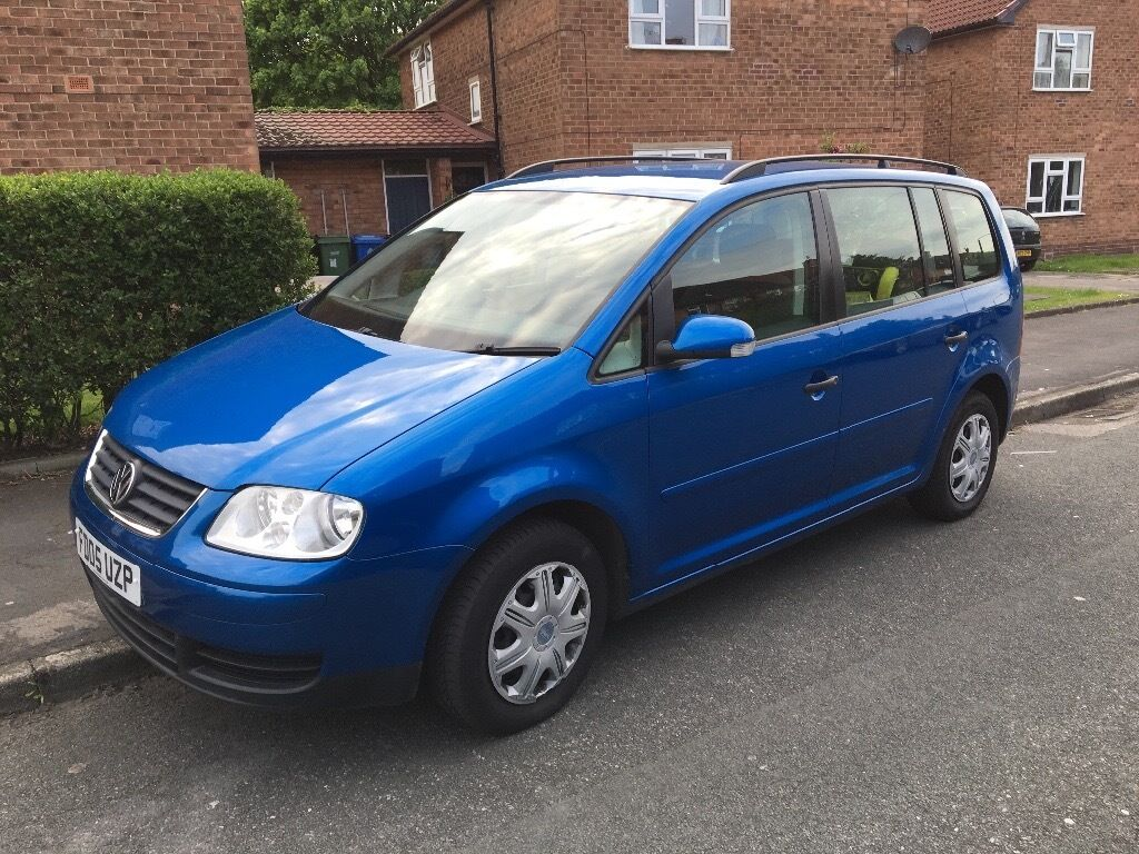 2005 volkswagen touran 1 9 tdi s 5dr 7 seats blue manual 98000 miles perfect family car. Black Bedroom Furniture Sets. Home Design Ideas