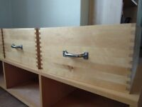 Wooden TV table/set of 3 drawers. Good used condition