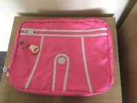 Pink Kipling laptop bag