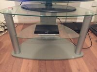 Tv stand/unit (silver/glass)