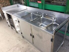 COMMERCIAL CATERING SINK UNIT SET FAST FOOD RESTAURANT CAFE KEBAB CHICKEN SANDWICH RESTAURANT BAR