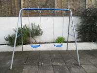 Childrens Double garden swing ( used)