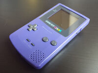 Nintendo Gameboy Colour Handheld Console in Purple