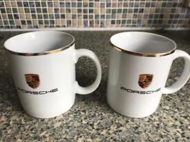 GENUINE Porsche mugs x2