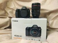 Canon EOS 6D 20.2MP Digital SLR Camera - Black w/ 24-105mm Lens (Shutter count: 557)