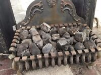Wrought Iron Victorian Coal Basket/Grate