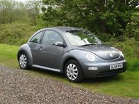 volkswagan beetle 1596cc matalic grey 04 plate 1495 no offers looks like a brand new car