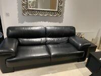 Sofology vantage 4 piece leather sofa suite set