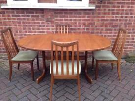 G Plan retro Solid Teak Table & 4 Chairs REDUCED