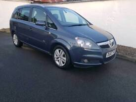 Vauxhall zafira design 7 seater low miles
