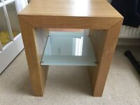 Solid oak lamp table for sale