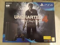 Sony Playstation PS4 500GB Brand New in Jet Black with Uncharted 4