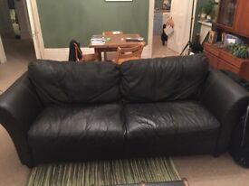 Three seater leather sofa with plenty of life left!