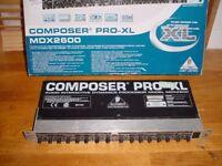 BEHRINGER COMPOSER PRO-XL MDX2600 2-Channel Expander/Gate/ Compressor/ Limiter