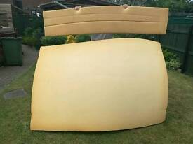 Mattress and seating pads for trailer tent