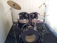 Pearl Forum Series 5 piece drum kit with a choice of cymbals.