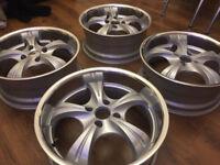 "Deep dish Alloy wheels 17"" inch 4x108 Mazda 2 Citroen saxo xanti xsara zx Volvo 850 alloys wheel"