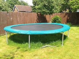14ft Skyhigh plus Trampoline - this is very large meaning it's safer and it's perfect for the summer