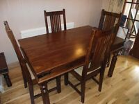 As new John Lewis Maharani table and 4 chairs