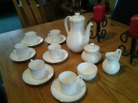 Royal Doulton Carnation bone china coffee set