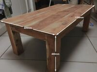 Solid hardwood Coffee table £60