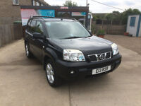 Nissan X-Trail 2.2 Columbia DCI 4x4 Diesel 5 Door Manual in Black. Sat Nav, Clean, FSH & MOT