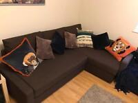 Corner sofa bed *WITH STORAGE*