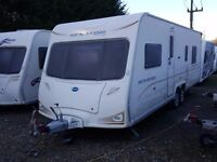 2008 Bailey Senator Louisianna Twin Axle Fixed Island Bed 4 Berth Caravan