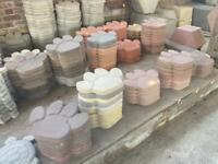🐾 Large Concrete Paw Print Ornament / Stepping Stone /Flag ~ Cat / Dog / Animal