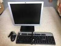 HP monitor 17 inc keyboard and mouse