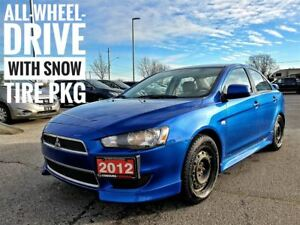 2012 Mitsubishi Lancer SE AWC with Winter Tires  FREE Delivery