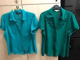 2 x Debenhams blouses for ladies size 18