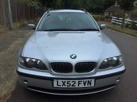 BMW 3 Series 320i SE Touring 5dr 2002 (52 reg), Estate Automatic 2171cc +One Year MOT No Advisory
