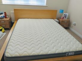 5FT UK King 3D Breathable Fabric Mattress with Pocket Springs and Memory Foam