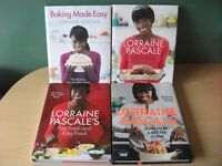 Lot of 4 Lorraine Pascale Hardback Cookbooks NEW - NEEDS TO GO ASAP! recipes, baking, cooking, food