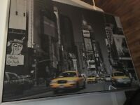 New York Times Square large framed canvas 140x100cm