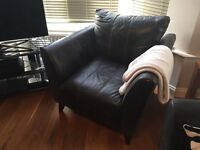 leather armchair, black, very good condition