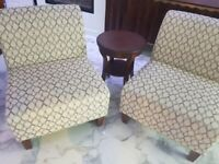 Avenue 3 Piece Fabric Chair & Accent Table Set
